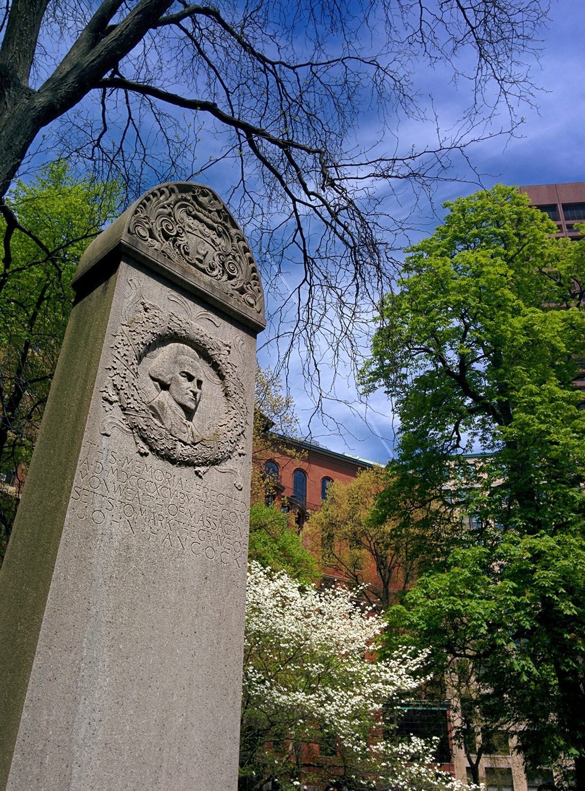 John Hancock's memorial at the Granary Burying Ground