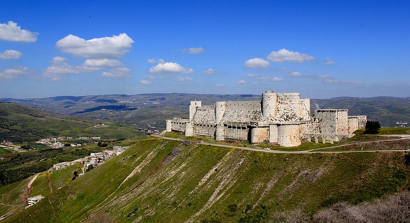 Krak des Chevaliers, a castle of the Knights Hospitallers