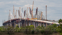 New and Old Goethals Bridges over the Arthur Kill, Elizabeth NJ - Staten Island NY