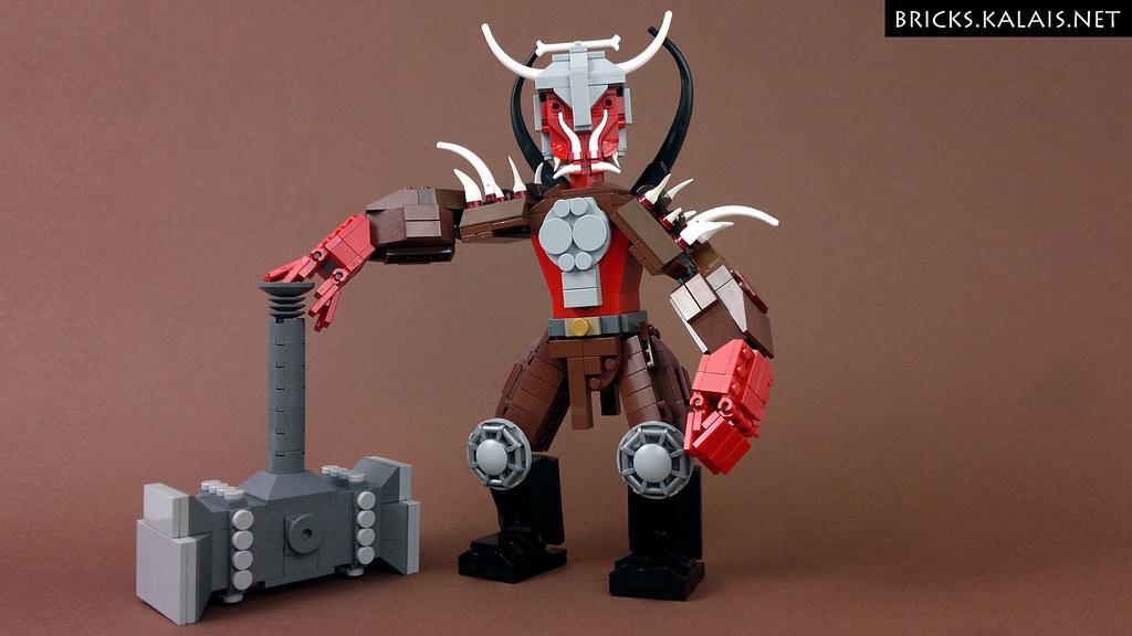 LEGO Blood Orc (custom built Lego model)