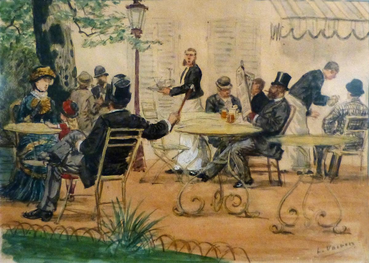Terrace Scene-Musée Lorrain by Léon Voirin (1833-1887)