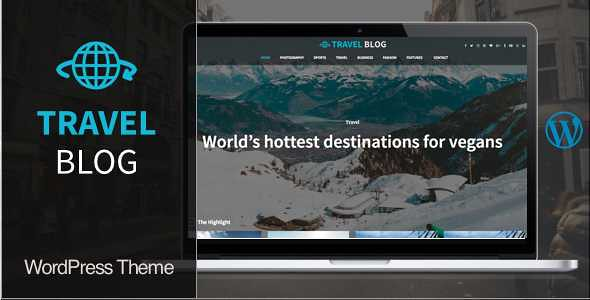 Travel Blog WordPress Theme free download