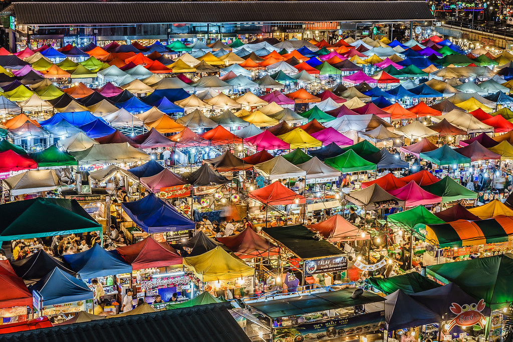 Night Market in Bangkok, Thailand