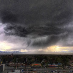 Rain over The Front Range, from Glendale, Denver Colorado 6:12 p.m. 5/2/17