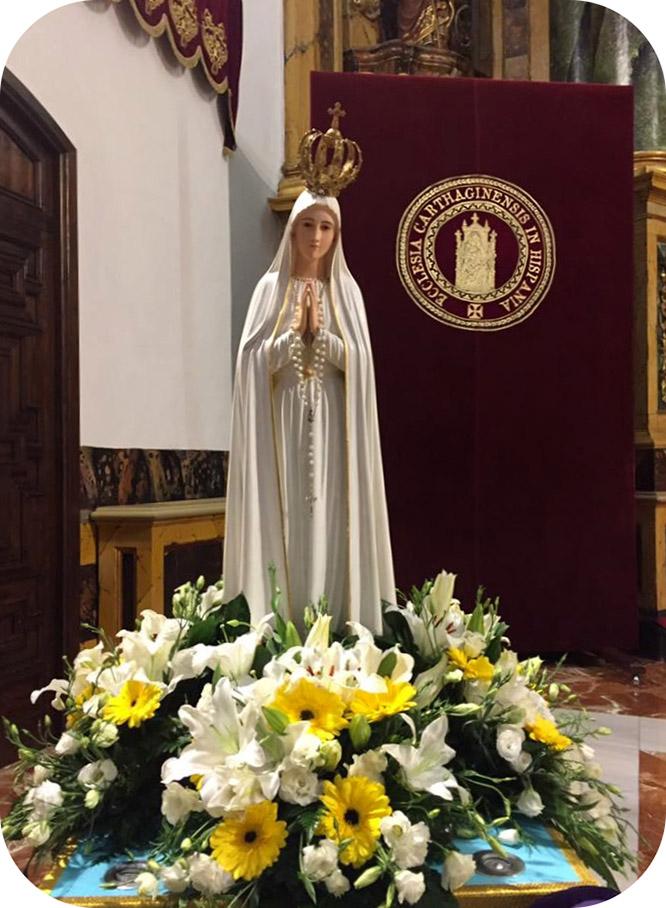La Virgen Peregrina de Fátima procesionará en Cartagena