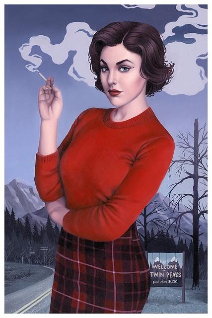 Audrey Horne  (of Twin Peaks) by Sarah Joncas