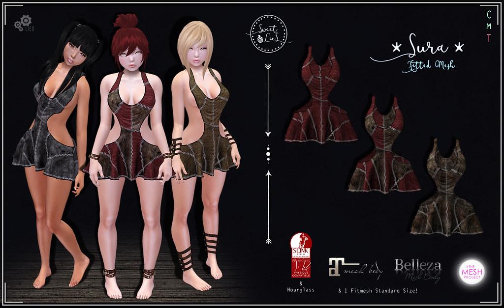 Sura Dress Pack #1 - Sweet Lies Original - SecondLifeHub.com