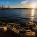 sun setting over the Hudson RIver by Havoc315