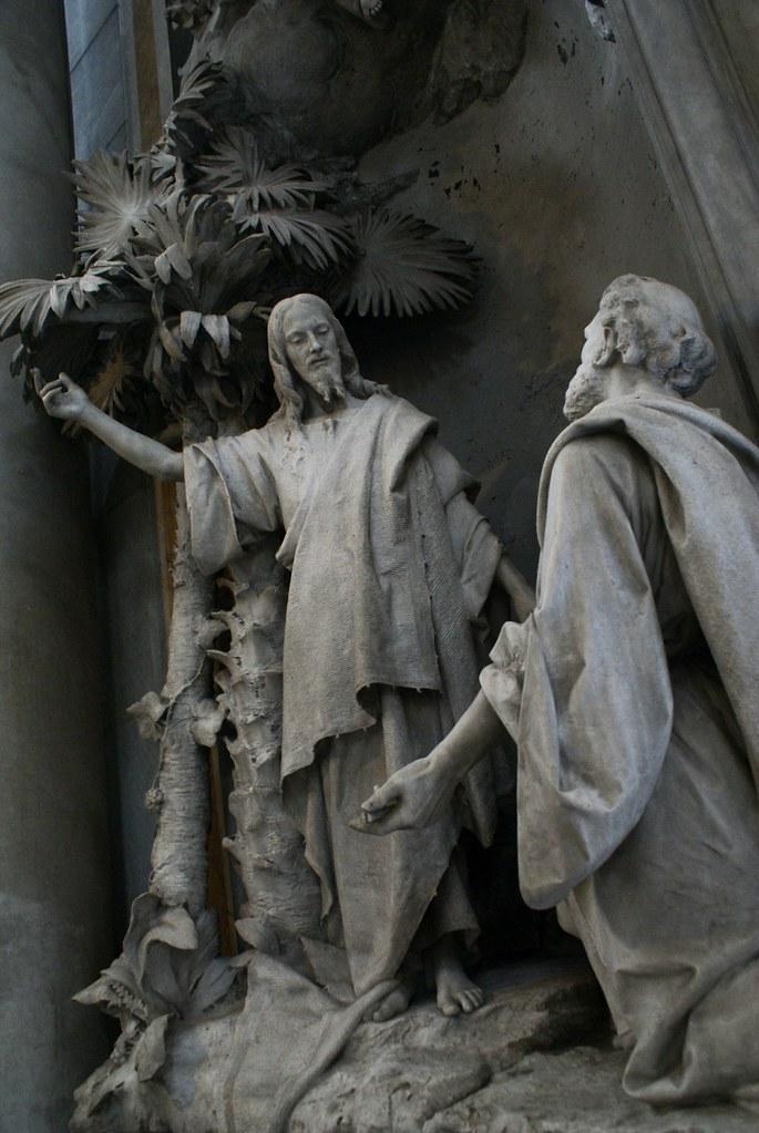Statue de Jésus à la basilique Santa Maria delle Vigne à Gênes.