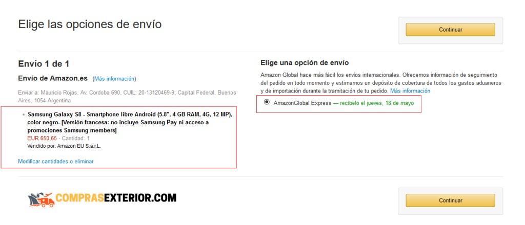 Vendido y Enviado por Amazon