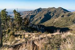 1705 Kathy climbing up Red Ridge Trail