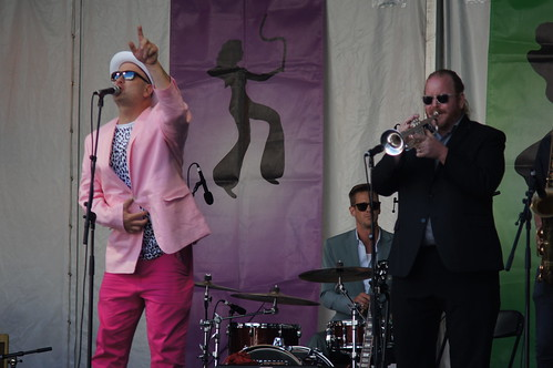 King James & the Special Men at the Lagniappe Stage on Day 5 of Jazz Fest - May 5, 2017. Photo by Bill Sasser.