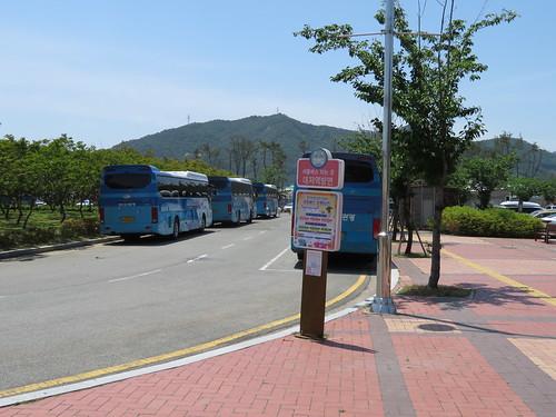 釜山慶南競馬場の帰りの送迎バス