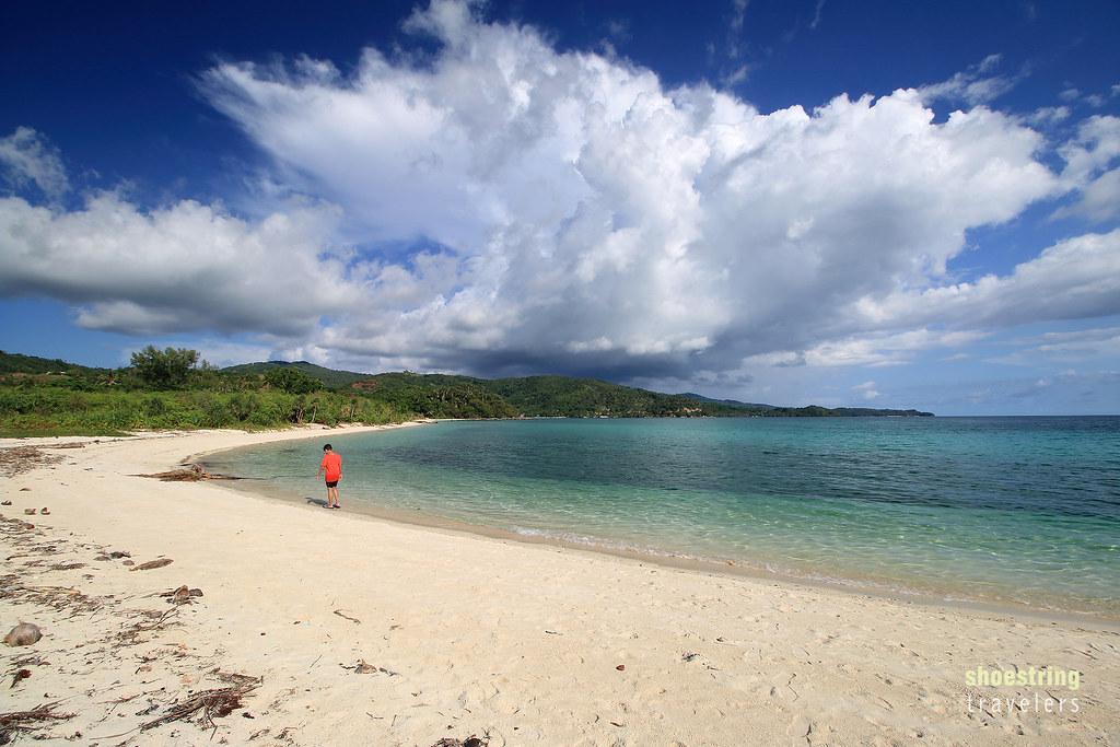 the southern half and sandbar of Bonbon Beach