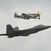 F22 Raptor and P51 Mustang