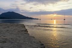 Sunset on the beach at Phuket Thailand