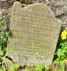 Discarded gravestone at Milltown of Rothiemay