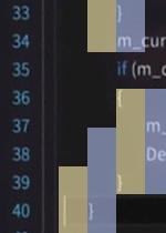 カーソル位置の判定画像。カーソルの開始位置が、字下げ開始位置から1、2文字分ほどずれて表示されている。