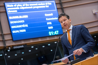 Eurogroup Head expects agreement on Greek bailout by end May