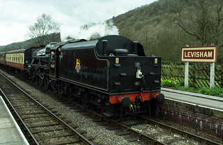 20170330-29_Black Five Engine 5MT 45407 + Train coming in to Levisham Station