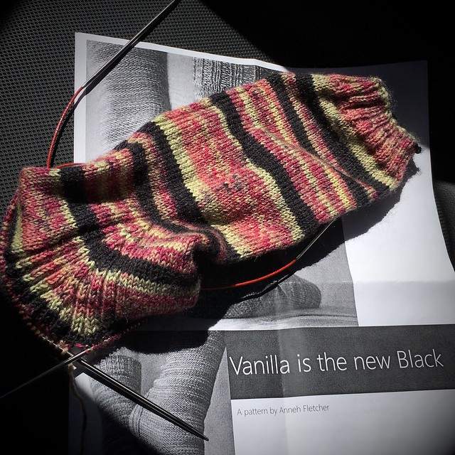Vanilla is the New Black (sock progress)