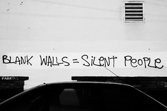 Blank walls = Silent people