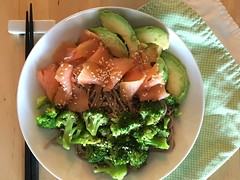 Snixy Kitchen's Smoked Salmon Soba Bowl