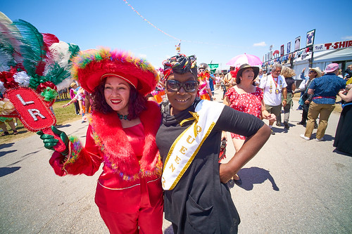 Lady Rollers parade at Jazz Fest Day 5 - May 5, 2017. Photo by Eli Mergel.