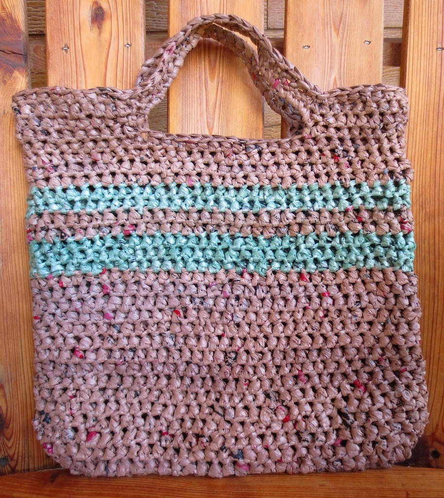 Crochet Pattern For Bags Plastic : My Recycled Bags.com