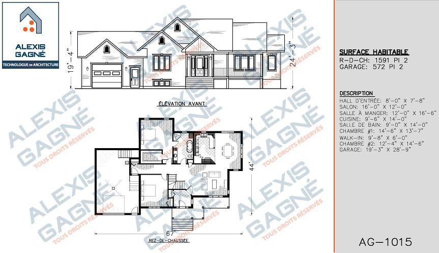 Maison 1 etage avec garage victoriaville alexis gagn for Modele maison 2 etage avec garage
