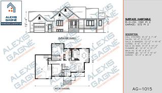 Plan de maison 1 étage avec garage - MM1eG.07