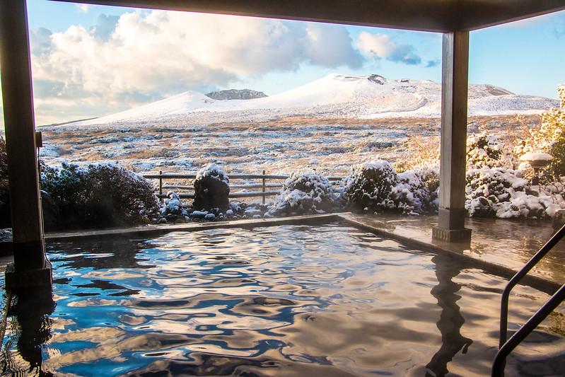 三原山の雪見風呂