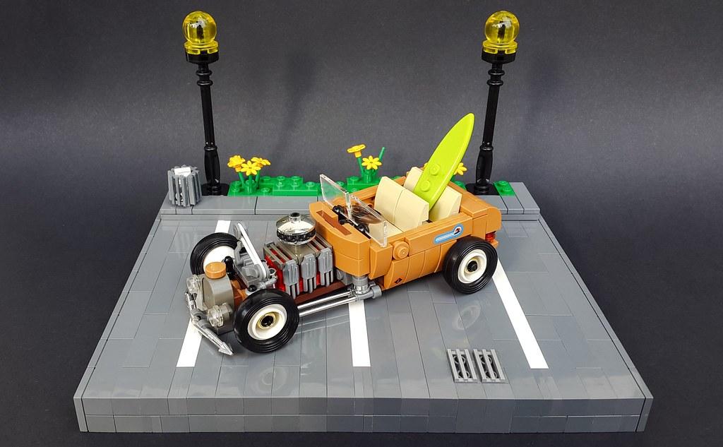 1930. Ford Hot Rod Beach Cruiser (custom built Lego model)