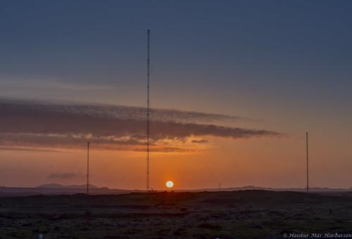 sunset iceland grindavík