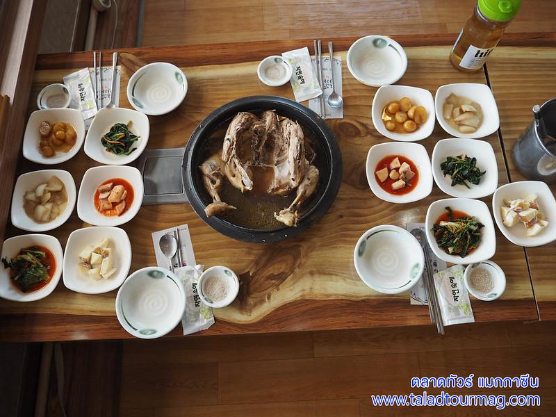 ไก่ตุ๋นเกาหลี เป็กซุก ไก่ตุ๋นหม้อใหญ่ ไม่ใส่โสม เกาหลีใต้ เมืองคังฮวา