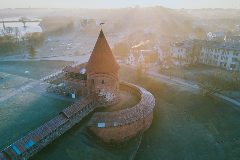 Morning in Kaunas old town  | Aerial