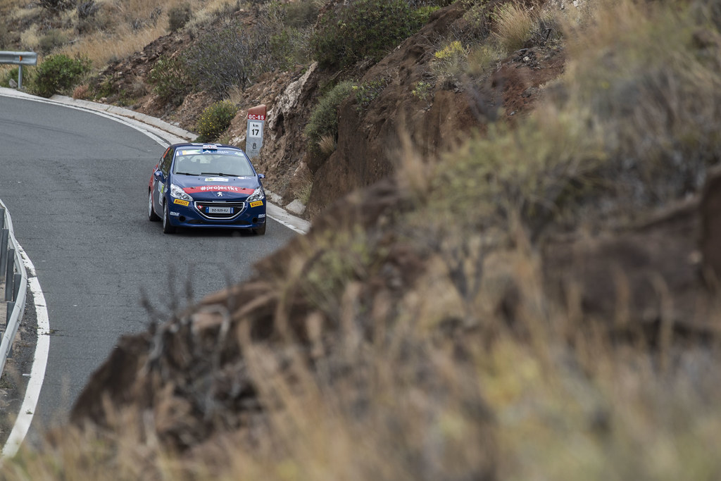 36 MUNNINGS Catie (GBR) STEIN Anne Katharina (DEU) Peugeot 208 R2 Action during the 2017 European Rally Championship ERC Rally Islas Canarias, El Corte Inglés,  from May 4 to 6, at Las Palmas, Spain - Photo Gregory Lenormand / DPPI