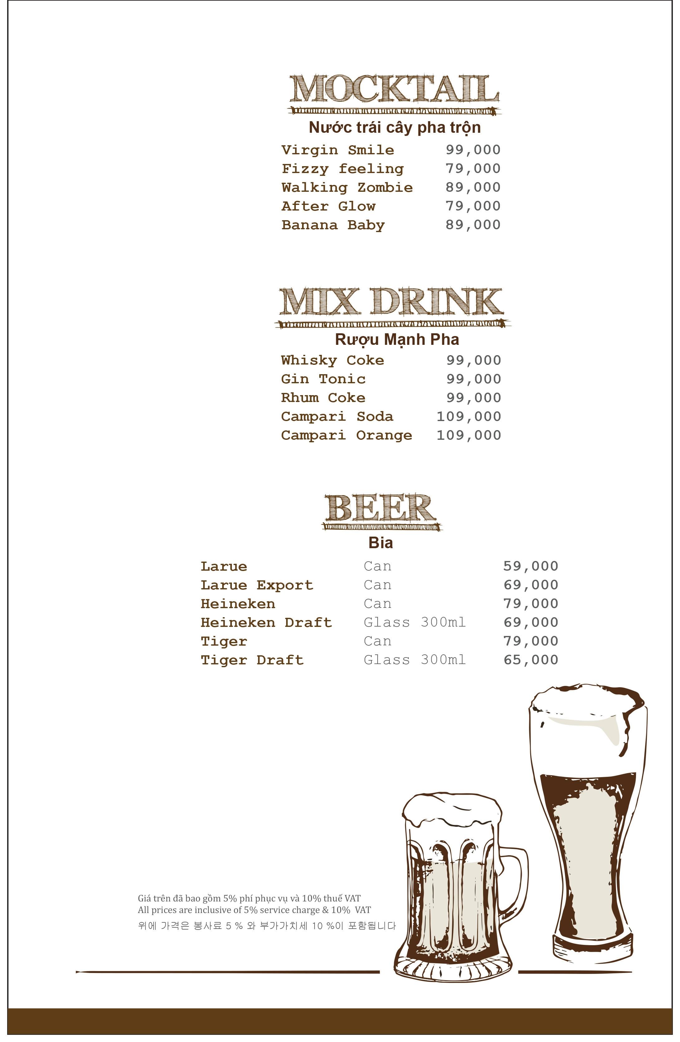 Giảm 5% hóa đơn Top View Bar | Vanda Hotel - Menu 3