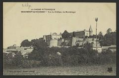 Vue du château de Montéléger