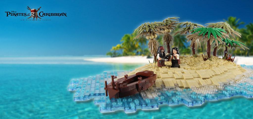 POTC – On Stranger Tides – Again on an island (custom built Lego model)