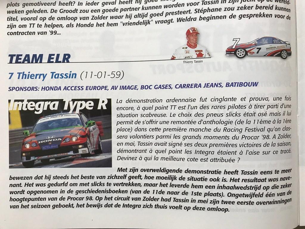 Resurrection: 1998 Belgian Procar - Thierry Tassin ELR/Honda