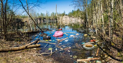 view kaivos landscape water romu junk louhos saastuminen vesi pit scenery mining scrap quarry maisema pollution nikond7100tamron16300mmf3563 vesijää vantaa uusimaa finland fi panoraama panorama