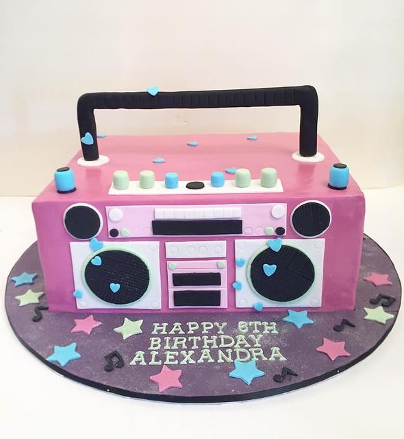 Boom Box Cake by Julia's Sweet Creations