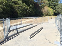 Jim Keeffe Skate Park rail and steps