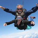 Tandem Skydivers Samantha and Art Farley In Freefall