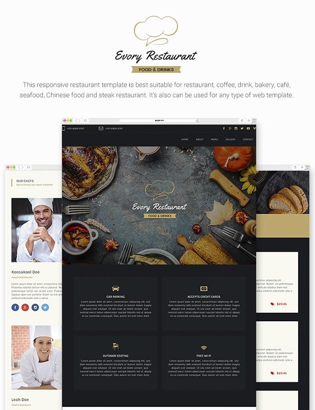 Evory - Responsive Restaurant Adobe Muse Template - 8