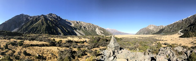 Pano of trail to Mt Cook