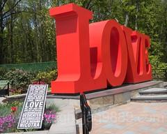 LOVE Sculpture (2016) by Patrick Weisel, Bloomfield, Staten Island, New York City
