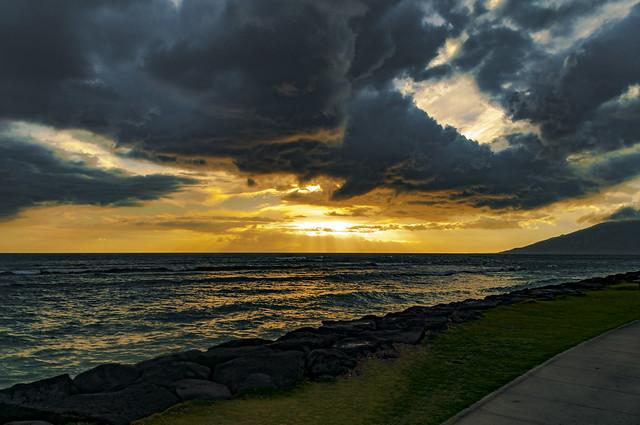 Kalama Beach Park Sunset