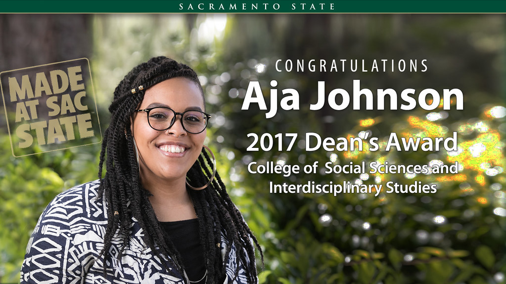 2017 Dean's Award College of Social Science and Interdisciplinary Studies: Aja Johnson